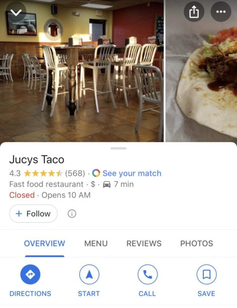 Google Business Reviews - Local Restaurant